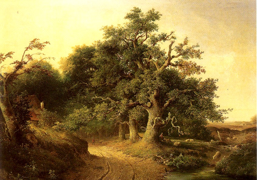 J.J. Cremer, the Woden oaks near Wolfheze, 1849